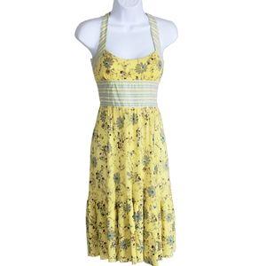 Free People Women's Sundress Tie Back Yellow Sz 8